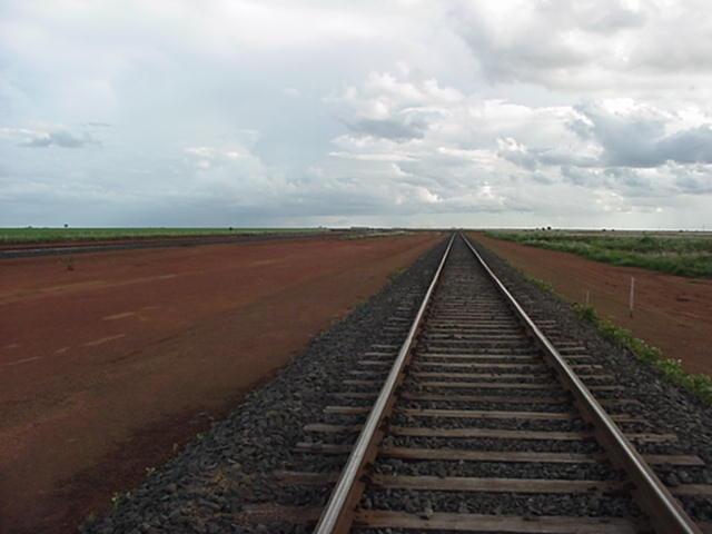 Single track of Ferronorte Railroad in Mato Grosso