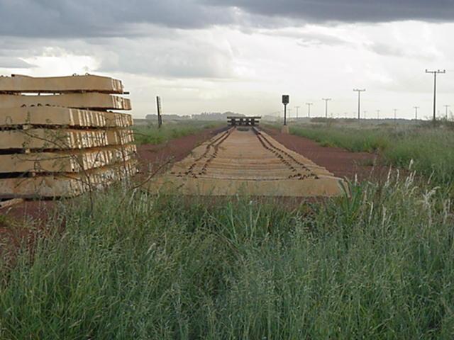 Concrete railroad ties used for Ferronorte Railroad in Mato Grosso